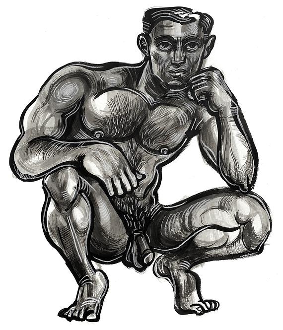 Crouching Man 3