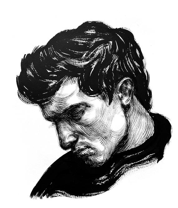 Handsome Faces 131 (Rough Brush Series)