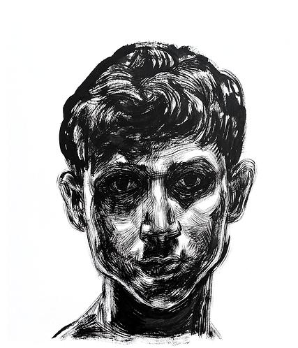 Handsome Faces 126 (Rough Brush Series)