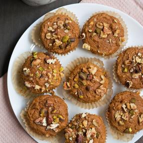 vegan pumpkin spice muffins - delicious fall recipe + video!