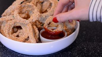 Crispy Oven Baked Onion Rings - Vegan + Oil Free