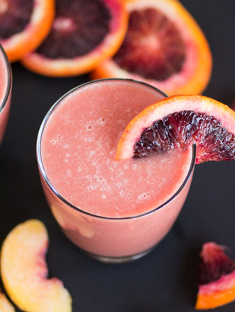 Key Lime, Blood Orange, & Peach Spring Mocktail - Vegan