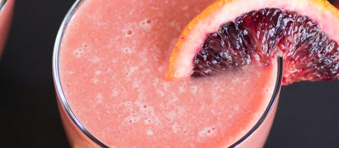 Key Lime, Blood Orange, & Peach Spring Mocktail - Vegan