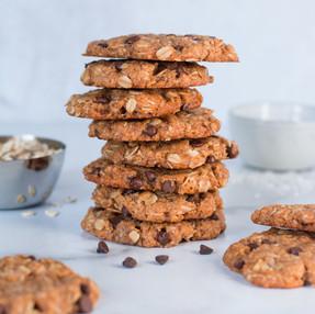 Flourless Peanut Butter Coconut Cookies (vegan)
