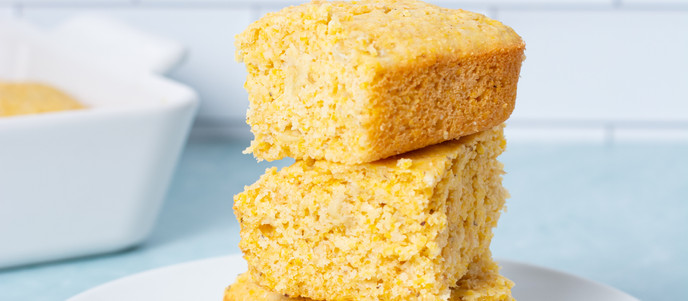 Easy Sweet & Buttery Cornbread - Vegan