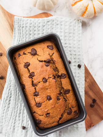 Chocolate Chip Pumpkin Bread - Vegan + Oil Free