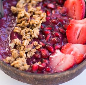 Wild Blueberry Yogurt Smoothie Bowl Recipe - VEGAN + VIDEO