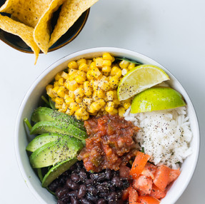 Healthy Spinach Taco Salad Bowl with Tortilla Chips // Quick Vegan Meal Recipe