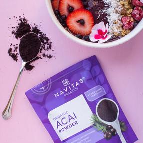 Creamy Vegan Acai Smoothie Bowl Using Navitas Organics Acai Powder + Video