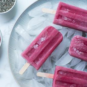 Raspberry Chia Popsicles | Healthy + Hydrating Summer Vegan Treat