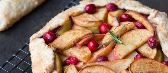 Vegan Apple Cranberry Galette   Holiday Dessert Recipe + My Magazine Cover Photo!