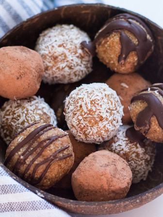 FUDGEY CARAMEL BLISS BALLS (3 Ways) - Vegan
