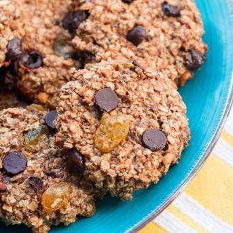 Healthy Banana Bread Cookies - Vegan + Oil Free