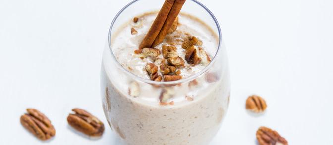 Cinnamon Pecan & Banana Milk Shake - Vegan