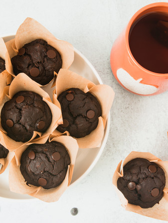 Chocolate Chip Mocha Muffins - Vegan + GF