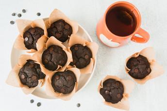 Chocolate Chip Mocha Muffins - Vegan + GF