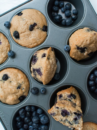 Weekend Morning Blueberry Muffins - Vegan + Oil Free