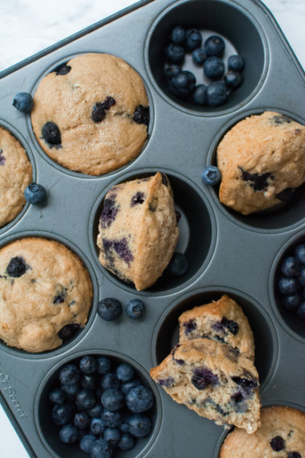 Weekend Morning Blueberry Muffins - Vegan + Oil Free