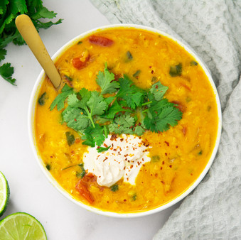 Indian Red Lentil Curry - Vegan