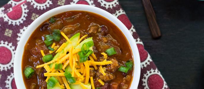 Spicy Red Bean Crockpot Chili - Vegan