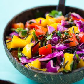 Thai Mango & Wild Rice Summer Slaw | Vegan