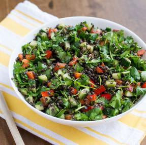 Springtime Black Lentil Salad Recipe