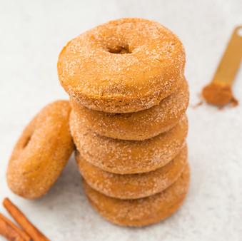 Pumpkin Spice Cinnnamon Sugar Donuts - Vegan
