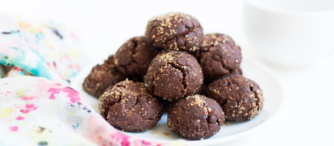 Chocolate & Peanut Butter Button Cookies -  Vegan