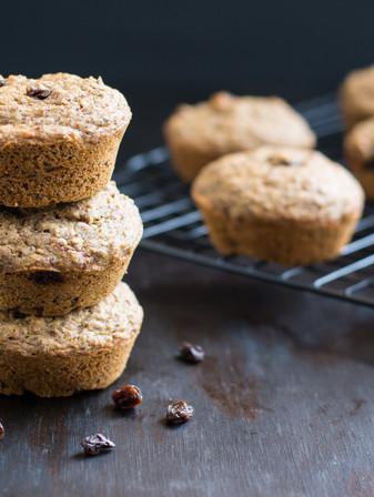 Applesauce Flaxseed Muffins - Vegan