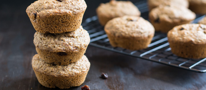 Applesauce Flaxseed Muffins - Vegan