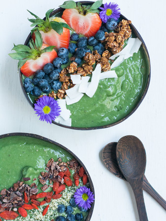 Green Monster Spirulina Smoothie Bowl - Vegan