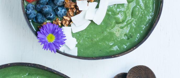 Green Monster Spirulina Smoothie Bowl - Vegan