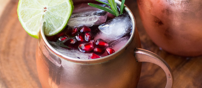 Pomegranate Ginger Moscow Mules - Vegan