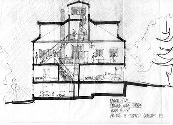 House plans for North Shore renovation by Massachusetts based Andrew Sidford Architects