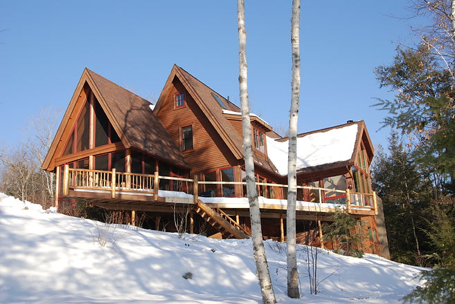 Rustic Brant Lake New York architecture by Massachusetts based Andrew Sidford Architects