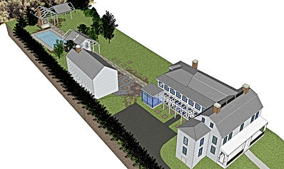 House plans for a historic house remodel by Massachusetts based Andrew Sidford Architects