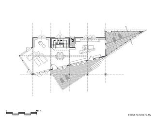 House plans for a New Hampshire mountain retreat by New England based architect Andrew Sidford