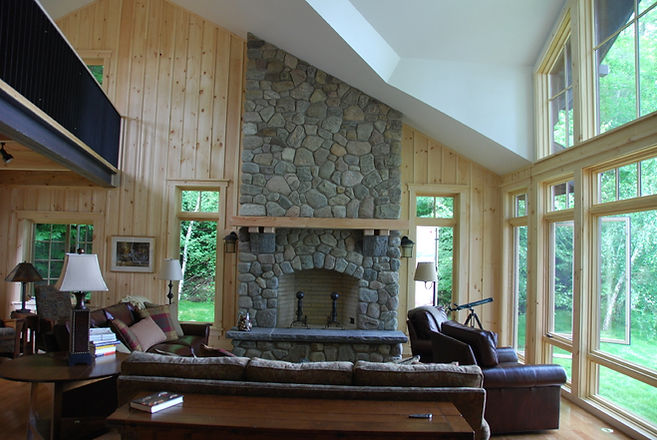 Rustic Big Moose Lake New York full home restoration by Massachusetts based Andrew Sidford Architects