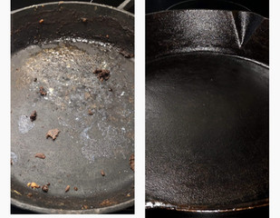 HOW TO PREP YOUR CAST IRON PAN- a.k.a how to 'season' a pan!