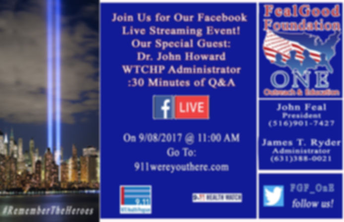 FacebookLive Event Sept. 8, 2017