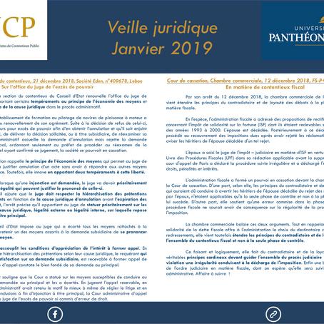 Veille juridique - Janvier 2019