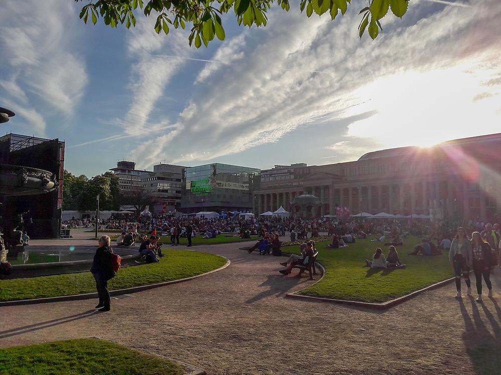 ITFS Open Air Kino auf dem Schlossplatz in Stuttgart