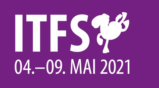 ITFS 04.-09.05.2021 Logo mit Pferd in lila