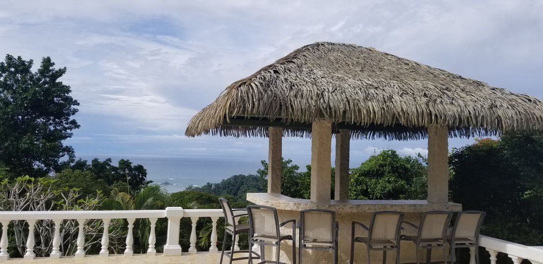 Palapa bar overlooking Dominicalito Beach