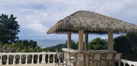 Palapa bar overlooking Dominicalito Beach