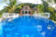 Deluxe villa accomodations with infinity pool, ocean view, close to beach, private rooms, en-suite bathroom