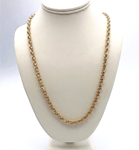"Byzantine Chain in 10K Yellow Gold 18.11 Grams 24"""