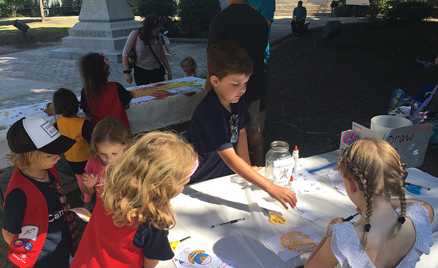 Crafty Campfire Kids' festival booth
