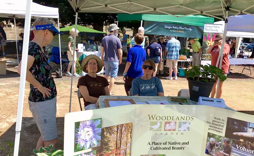 Woodlands Garden's festival booth