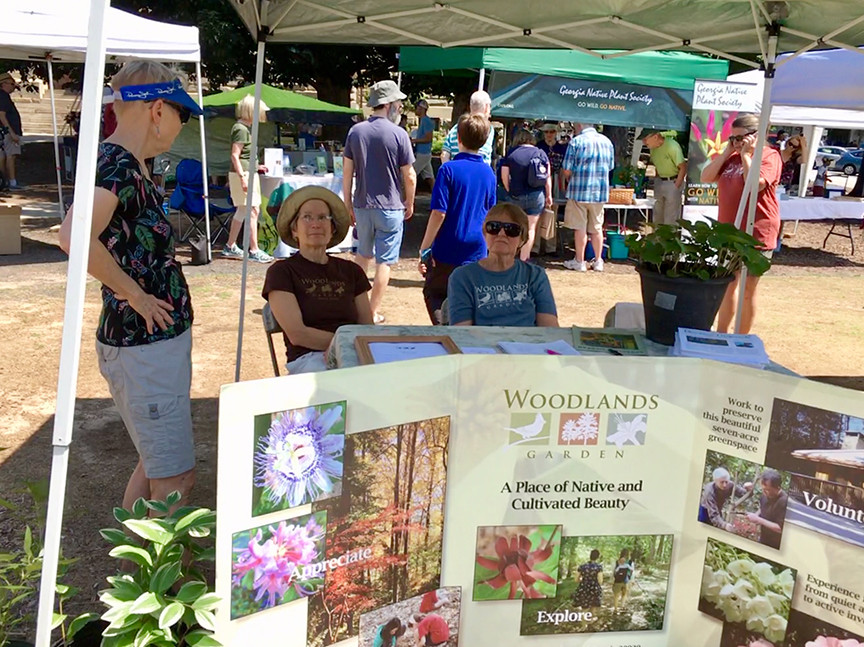 Woodlands Garden's festival booth
